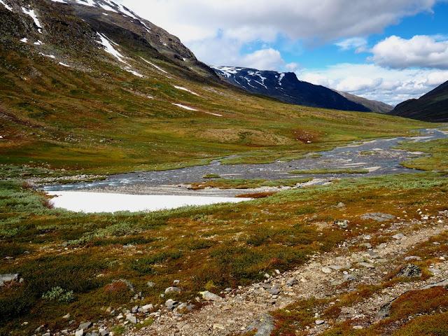 Řeka, kameny, přiroda, trek, Norsko, Jotunheimen