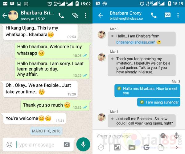 Belajar bahasa inggris online via chatting