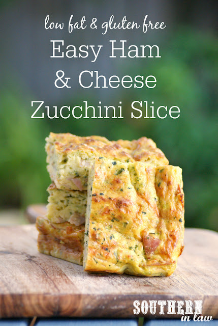 Healthy Ham and Cheese Zucchini Slice Recipe - low fat, gluten free, thermomix recipe, cuisine companion recipe, healthy, nut free, sugar free