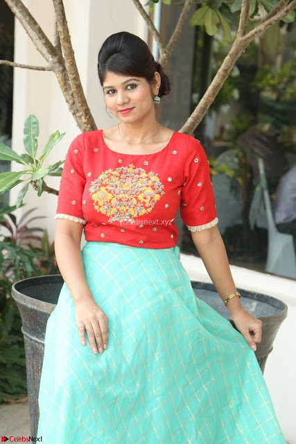 Lucky Shree Looks super cute in Bright Red Green Anarkali Dress ~  Exclusive 006.JPG