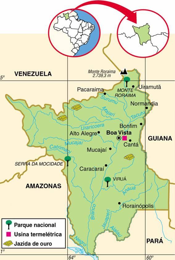 Roraima | Mapas Geográficos de Roraima