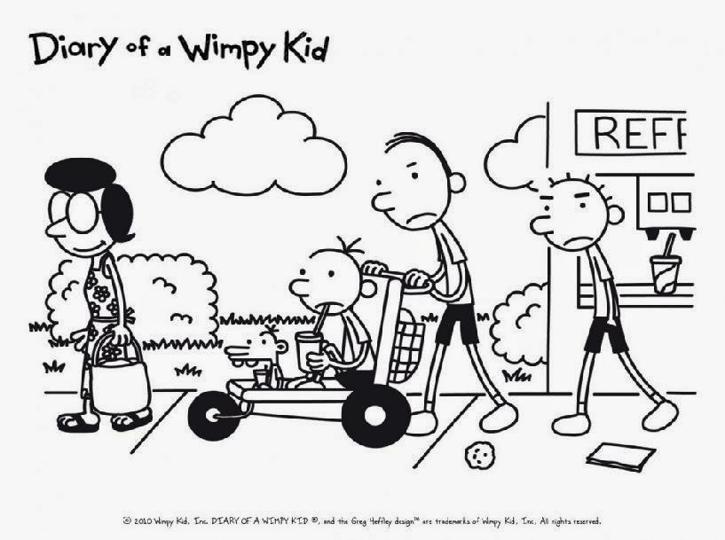 diary wimpy kid coloring page
