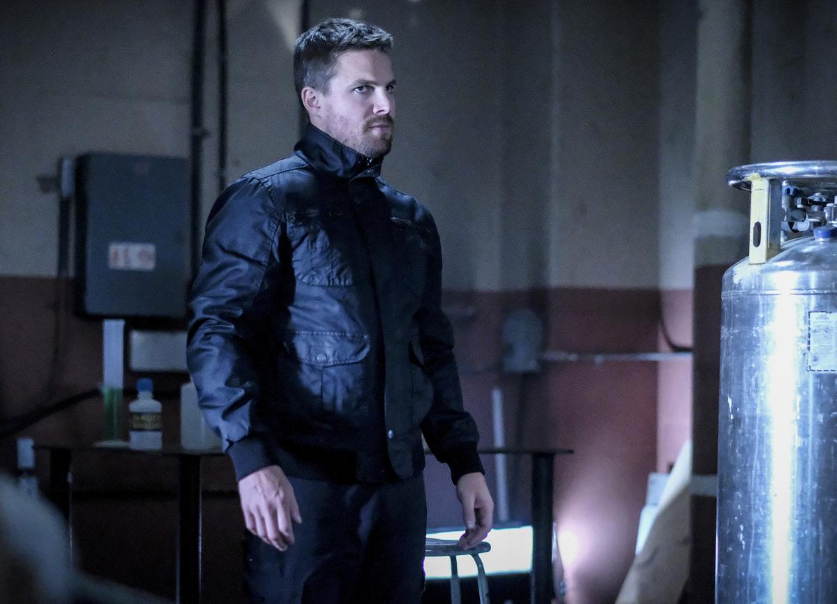 Stephen Amell en una escena de la serie Arrow