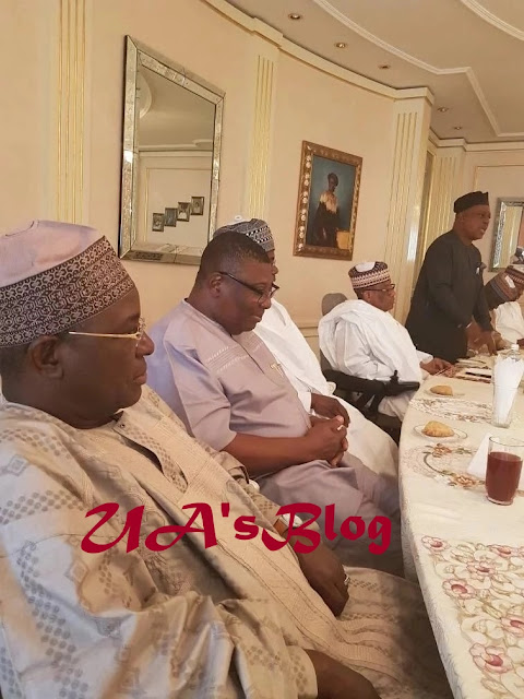 BREAKING: PDP NWC members visit Babangida's Minna home