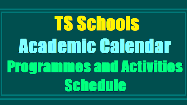 Download TS/Telangana School's New Academic Calendar 2017-2018