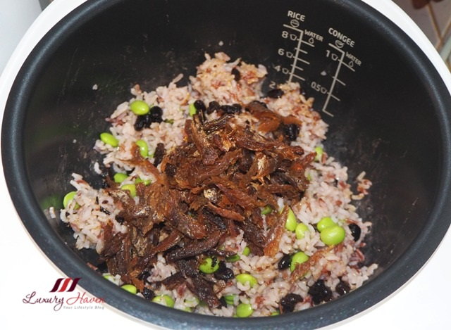 healthy brown rice with dace fish recipe