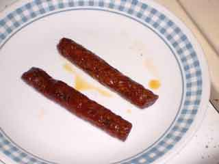 Chorizos, well, Chistorras, cooked