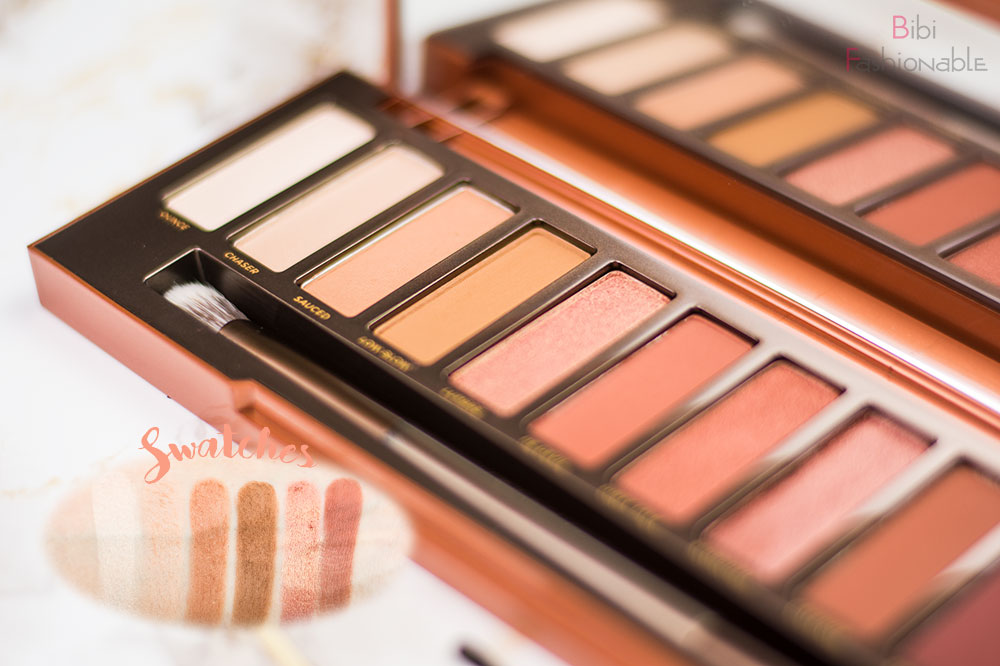 Urban Decay Naked Heat Swatches helle Nuancen