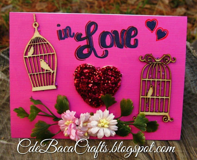 Valentine's Day Card example on CdeBaca Crafts blog.
