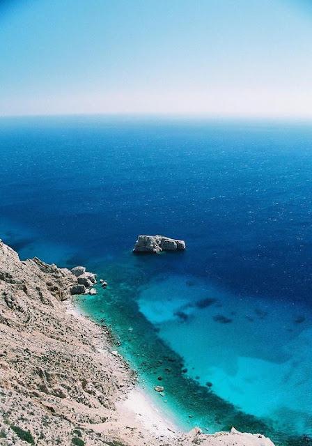 View from Hozoviotissa Monastery - Amorgos Island, Greece