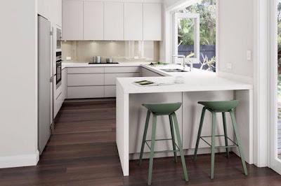 Desain Dapur Minimalis Dengan Kursi Bar