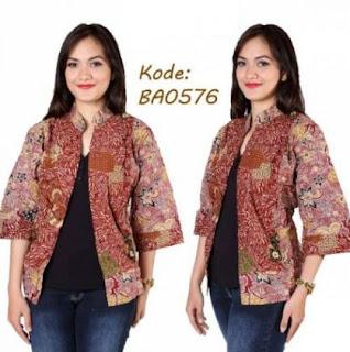 Model baju cardigan batik untuk orang gemuk gaya terbaru