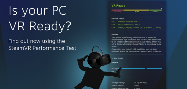 Steam Releases VR Performance Test