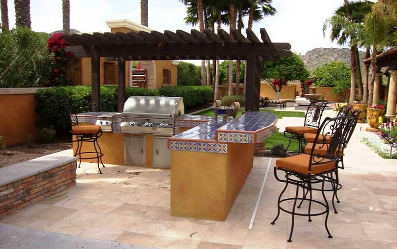 Outdoor Bbq And Bar Asad Pool