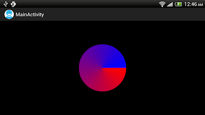Paint.setShader() with SweepGradient