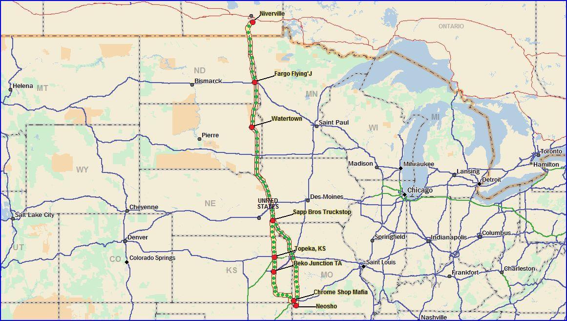 Roadtrip Chris Arbon : Chrome Shop Mafia and the Son of Iowa 80