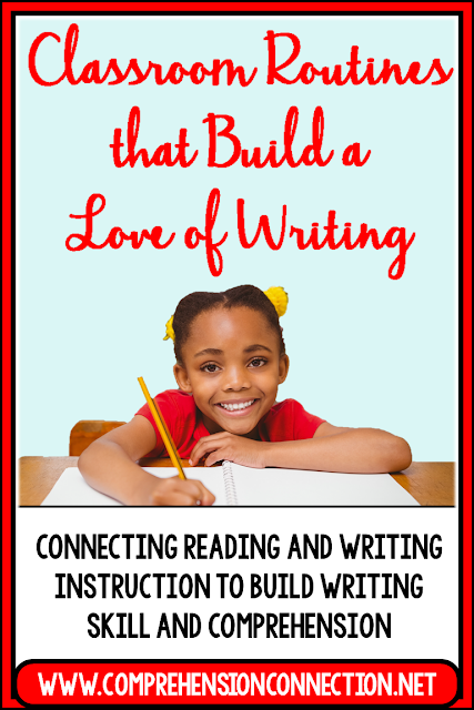 Writing routines make a difference in the development of writing skills. This post explains how to tie reading and writing instruction in cohesive ways to grow reading and writing skills.