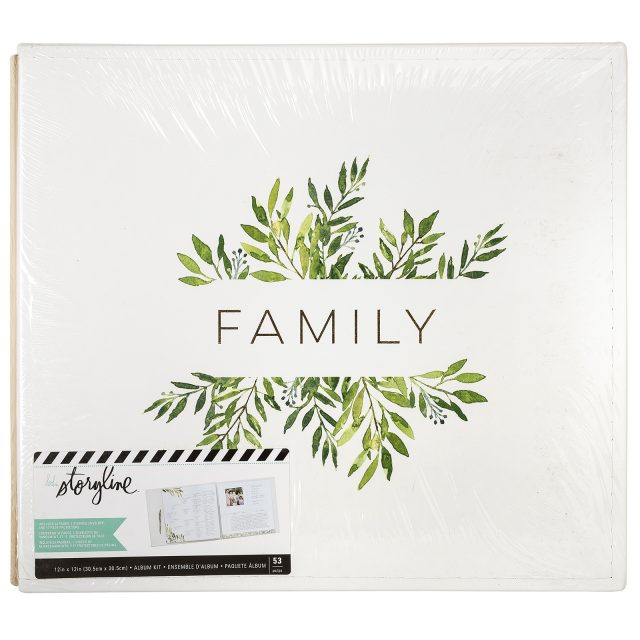 Heidi Swapp Storyline White and Floral Family 12x12 album