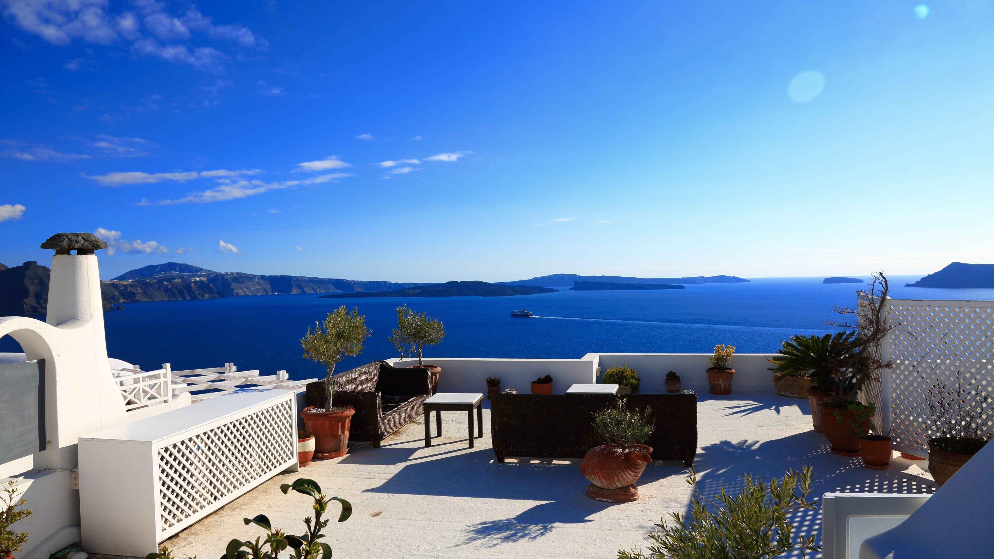 wallpaper santorini greece island - photo #49