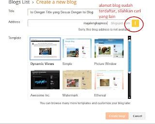 bikin blog hanya 3 menit