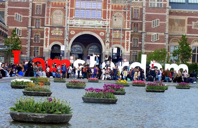 Letrero I Love Amsterdam