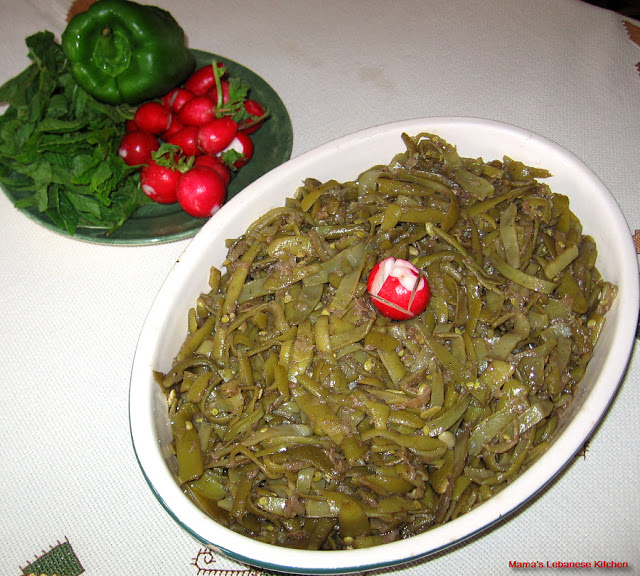 Green Beans and Olive Oil Saute – Loubieh Bi Zait