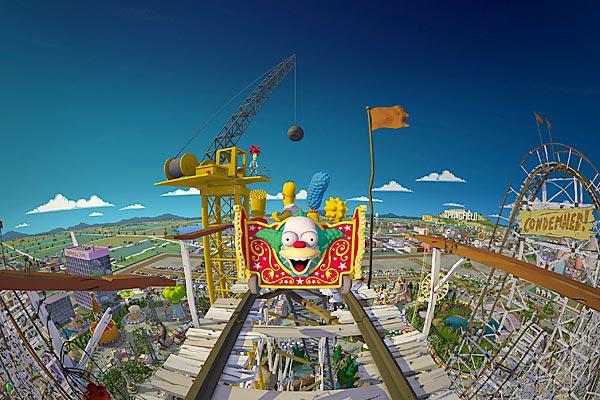 Brinquedo e Simulador The Simpsons Ride em Orlando