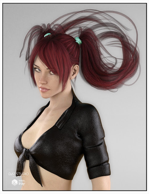 Jerry Hair for Genesis 3 Female