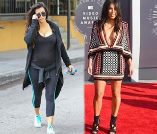 Kim Kardashian slims down