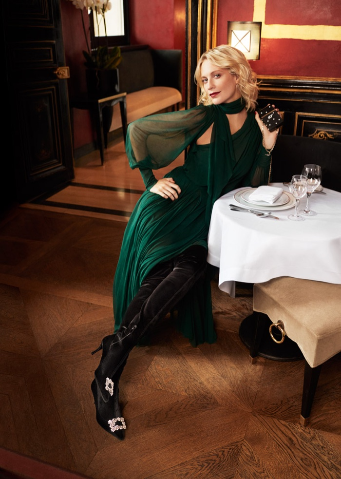 Poppy Delevingne for Roger Vivier Fall Winter 2018