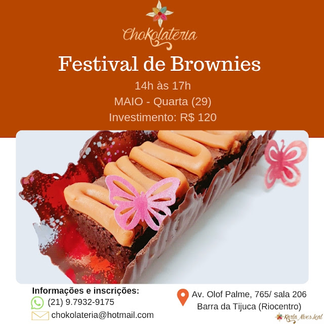 Curso de Brownies - Chokolateria Maio 2019