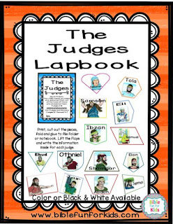 http://www.biblefunforkids.com/2017/07/judges-lapbook-updated.html