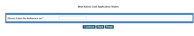 New Ration Card Application Status