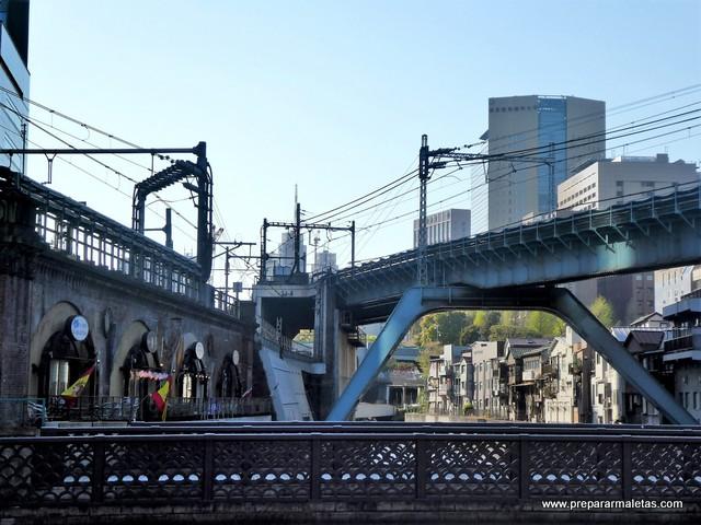 cruce de vías de tren en Tokio