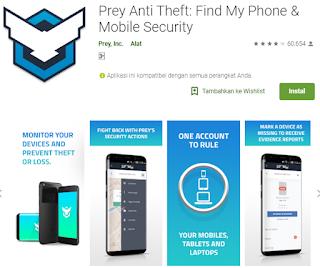 Aplikasi foto wajah pencuri di android Prey Anti Theft