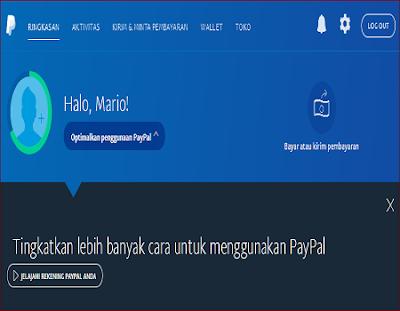 cara membuat akun paypal gratis tanpa kartu kredit