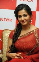 Anushka Sizzling in Saree at Intex Event HeyAndhra