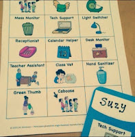 Easy Job Chart  by Teacher Ms H