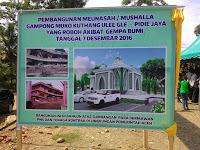 Pembangunan Meunasah Meuko Kuthang Pertama Dalam Sejarah Diresmikan Oleh Gubernur Aceh