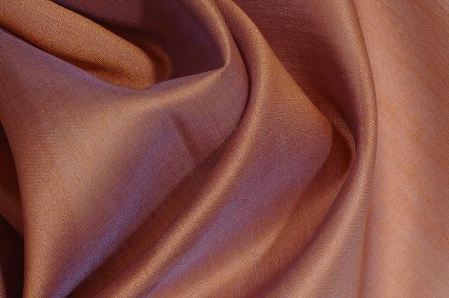 Rose Brown Cotton Silk Fabric