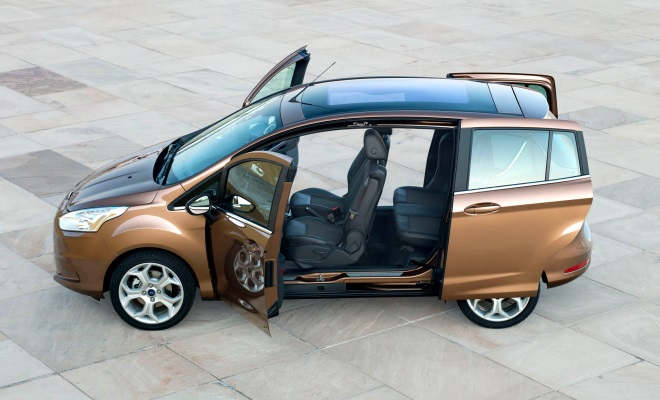 Ford B-Max with doors ajar