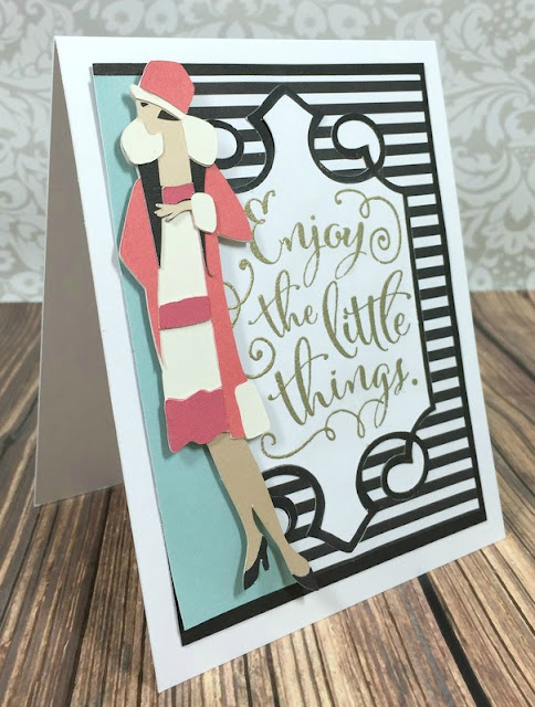 Cricut glamorous lady just because card