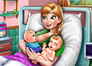 Frozen Anna Mommy Twins Birth juego