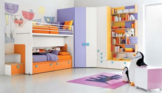 Kamar tidur sederhana yang nyaman untuk anak-anak
