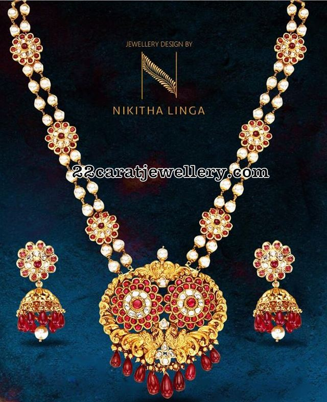 South Sea Pearls Kundan Long Set