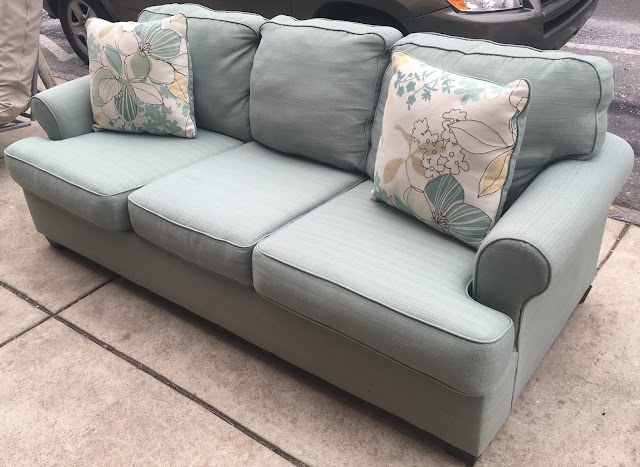 Sofa with Accent Pillows - $155