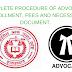 बार कौंसिल ऑफ़ उत्तर प्रदेश में अधिवक्ता रजिस्ट्रेशन की प्रक्रिया, फीस और दस्तावेजों की सम्पूर्ण जानकारी।  complete procedure of advocate enrollment fee and necessary document
