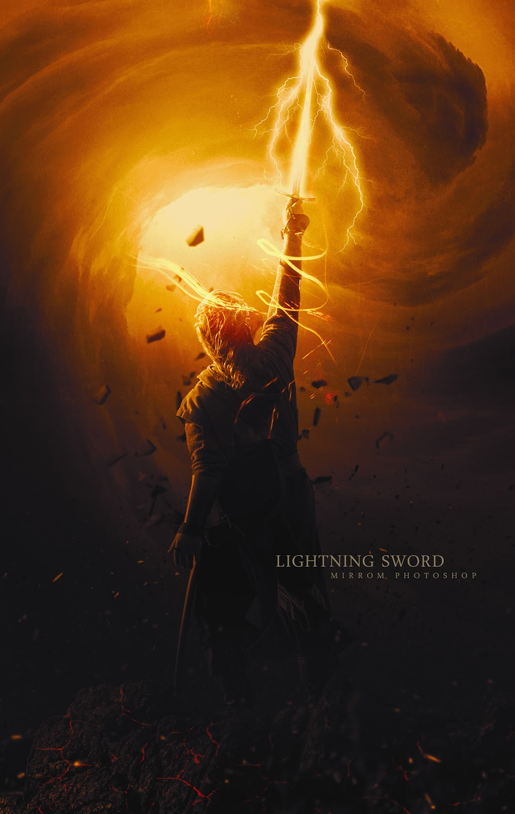 Create This Lightning Sword Digital Art Photo Manipulation Tutorial