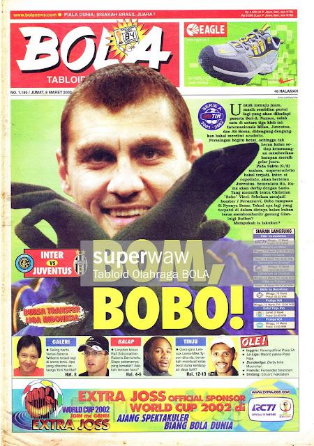 CHRISTIAN VIERI INTER MILAN 2002 MAGAZINE COVER