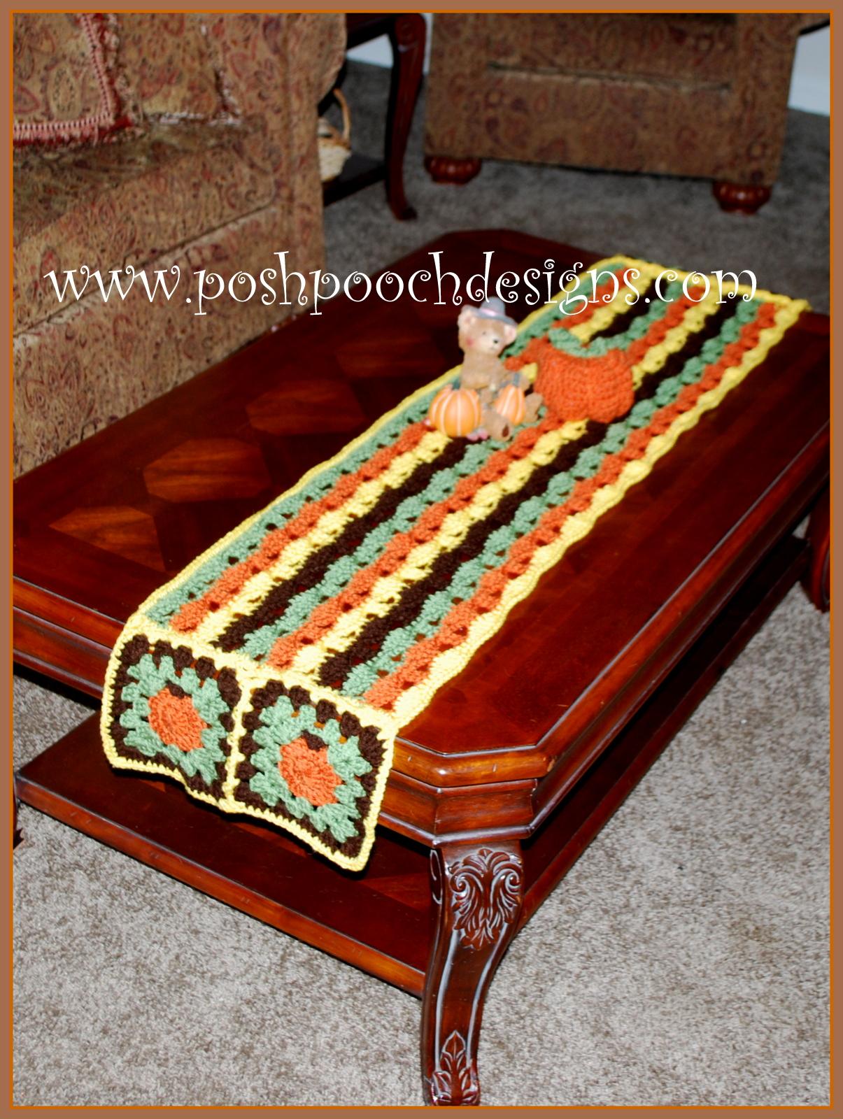Posh Pooch Designs Dog Clothes Little Pumpkins Fall Table Runner